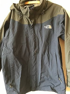 North Face Jacket With Fleece, Large, Grey Blue, Hyvent