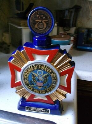1973 Veterans Of Foreign Wars 75 Anniversary Empty Decanter