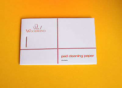 Pad cleaning paper for sax clarinet oboe bassoon flute woodwind