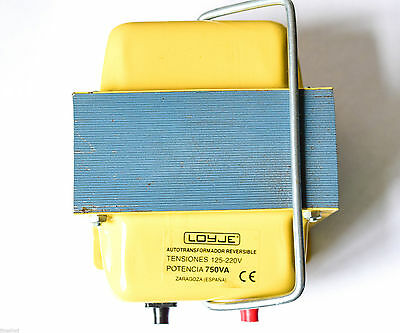 Vintage Autotransformer 125 220V  Reversible Made in Spain