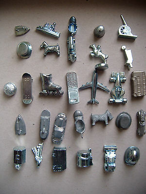 Individual Metal Monopoly Game Pieces / Spares / Tokens .vintage And Modern