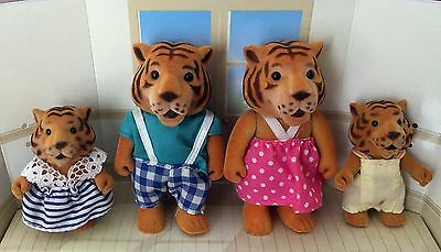 Sylvanian Forest Families Baerenwald Tiger Family - very rare vintage