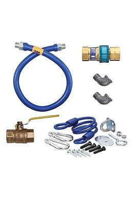 "Dormont 1650KIT48 Dormont Blue Hose Moveable Gas Connector 1/2"" new open box"