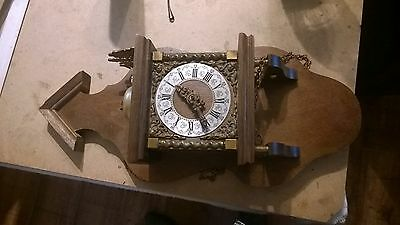 Dutch Zaandam Nu Elck Syn? Sin Wall Clock Spares Or Repair 22 Inches High