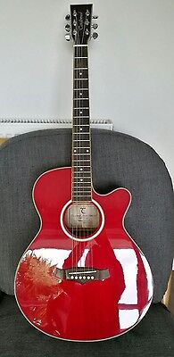 Tanglewood electro acoustic guitar - TSF CE R and soft case.