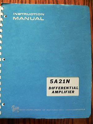 Tektronix Instruction/ Service  Manual for 5A21N Differential Amplifier