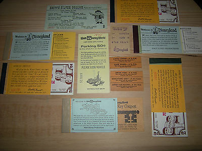 50's Disneyland Disneyworld DISNEY Knotts Brochure Guide Map w/ Vintage Tickets
