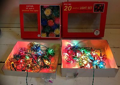 Two Packs Of Vintage Lyvia Christmas Xmas Fairy Tree Lights Fully Working