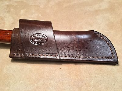 Custom Leather Crossdraw Sheath for ANZA Grizzly Fixed Blade Knife