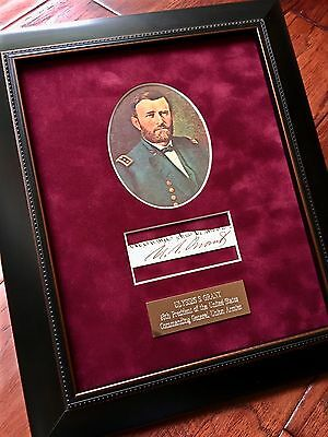 ULYSSES S. GRANT * AUTOGRAPH Executive Order Cut Signed * AS PRESIDENT * Proof