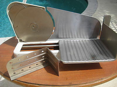 Vintage Silv a King Porcelain Metal Hand Crank Food Slicer - Meat, Cheese