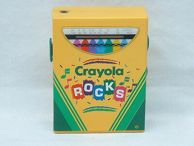 CRAYOLA CRAYON ROCKS Transistor Portable Radio AM/FM Tested - Walkman