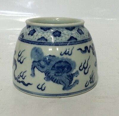Blue and white zun. Qing Kangxi Mark.