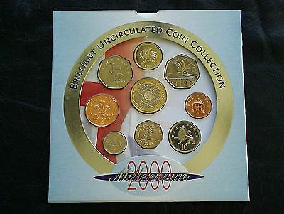 2000 Brilliant Uncirculated Coin Set In Royal Mint Presentation Pack