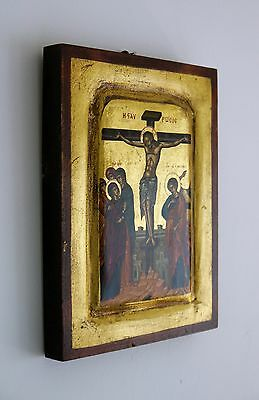 ICON Orthodox Collectable HAND PAINTED Byzantine Russian School RARE