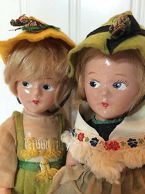 Madame Alexander Wendy Ann Tiny Betty 9 In Composition Lot 2 Swiss Dolls 1930s