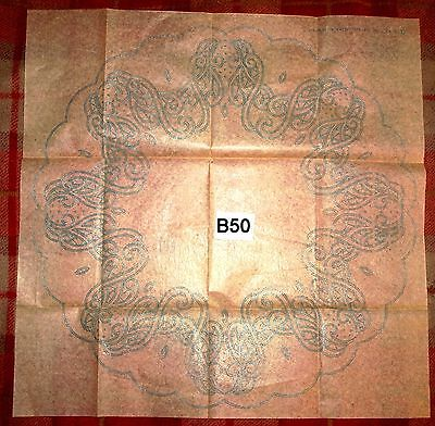 vintage embroidery iron on transfer, handsewing, needlepoint (B50)