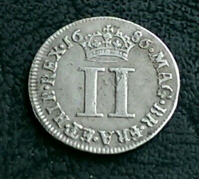 1686 James Ii Maundy Twopence