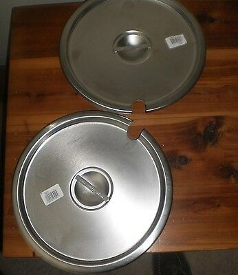 """NEW!  Vollrath Stainless Steel Round Slotted Lid Cover 11.5"""" 78200"""