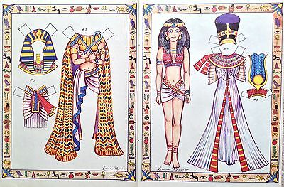 Egyptian Lady Magazine Paper Doll,1988, By Loraine Morris