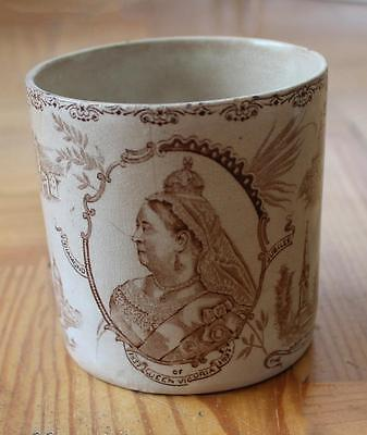 Good 1897 commemorative QUEEN VICTORIA diamond jubilee CORONATION MUG
