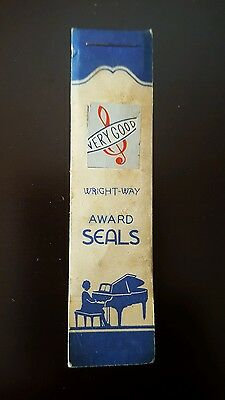 Vintage Wright Way Practice Record Piano Teacher VERY GOOD AWARD SEALS