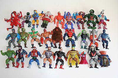 27x MASTERS of the UNIVERSE Toys LOT Action Figures Vintage MOTU Mattel RARE