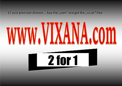 Brandable Premium Domain Name for Sale, 17 year old, www.vixana.com