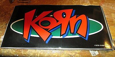 Korn Sticker Collectible Rare Vintage 1997 Metal Live Window Decal