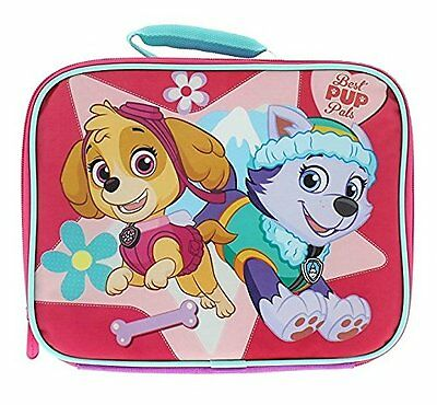 """Nickelodeon Paw Patrol Skye and Everest Pink 10""""L x 8""""W x 4""""H Lunch Box #394967"""