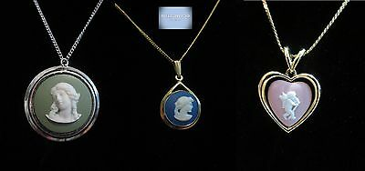 vintage wedgewood pendant necklaces (three) each sold separately see description