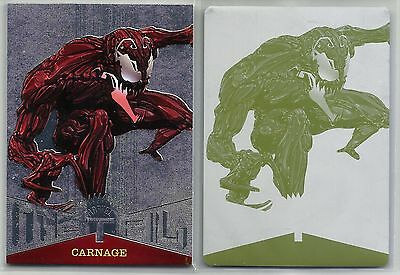 Carnage 2017 Fleer Ultra Spider-Man Marvel Metal Printing Plate 1/1 TRUE SP RARE