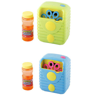 Set of 2 Bubble Machine Toy Kids Party Blower Maker Fun Blowing Outdoor Game New