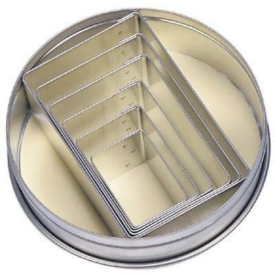 NEW Rectangle Set of 6 Cookie Cutters