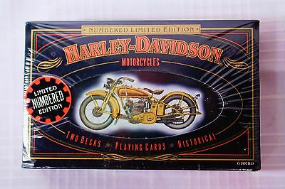 NEW SEALED Harley Davidson Numbered Limited Edition Playing Cards Tin 1903-1950