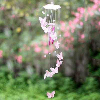 Wind Garden Chime Chimes Decor Home Hanging Windchime Tubes Mobile Outdoor PINK