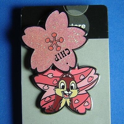 Chip Cherry Blossoms JDS Japan Disney Pin OC LE RARE Hinged