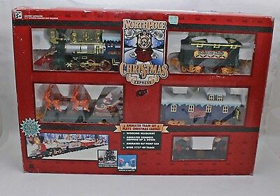 1996 Toy State North Pole Christmas Express Animated Train Set Battery Operated