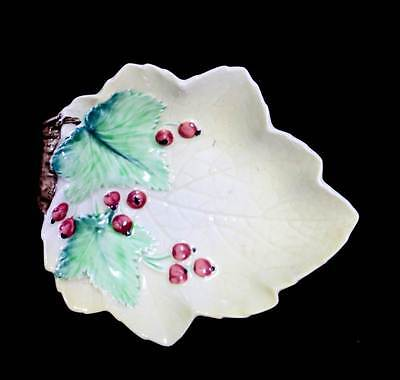 Vintage Carlton Ware rare redcurrant leaf shaped pin dish in great condition