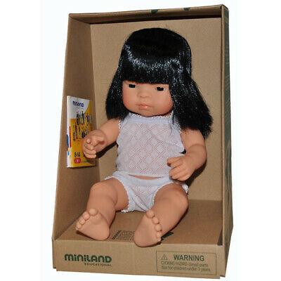 ANATOMICALLY Correct Life-like BABY DOLL ASIAN ETHNIC Girl Pretend PLAY Kids TOY