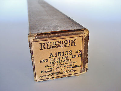 1916 Player Piano Roll - AND THEY CALLED IT DIXIELAND - Richard A. Whiting by PW