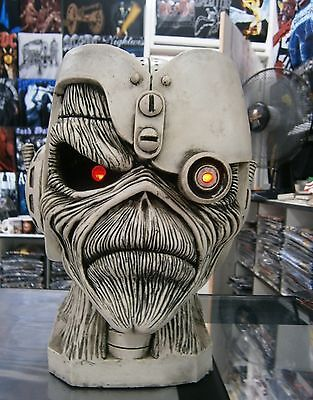 IRON MAIDEN Somewhere Back in Time Eddie Cyborg STATUE BIG HEAD SCULPTURE CD