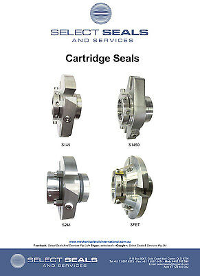 "Select Seals Cartridge Mechanical Seal 1 7/8"" S145 - Silicon vs Silicon Carbide"