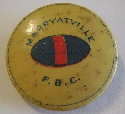 C1920s Marryatville Football Club Button Badge Adelaide