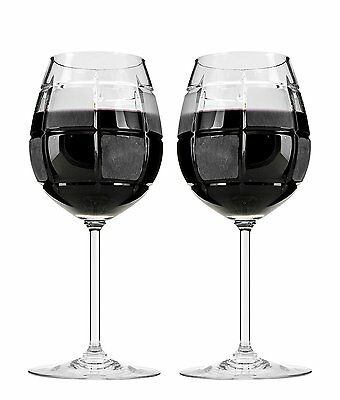 15 Oz Crystal Cut Wine Glasses on a Long Stem, Classic Wine Goblets, 2-Piece Set
