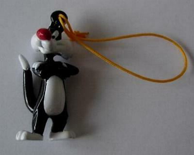 RARE Figure SYLVESTER CAT from LOONEY TUNES With DANGLER Tomy ITALY MINT NEW