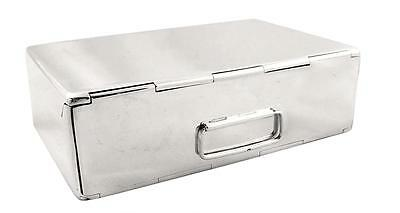 Antique Hallmarked Sterling Silver Sandwich Box -1915 -Hunting/fishing
