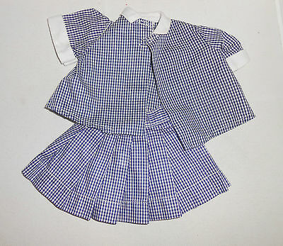 Doll Clothing Terri Lee  2 piece Blue and Whie Checked Summer Suit tagged  1950s