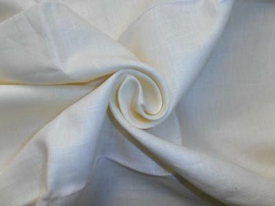 """53 mm White pure linen fabric 54 """" wide/137 cms wide"""