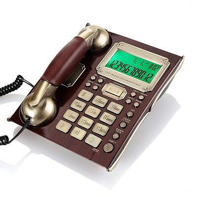 Retro Style Corded Home Phone Vintage Landline Desk Wall Mounted Wired Vintage